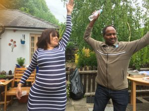image of customers dancing at Waterside Lodge for mental health awareness week