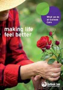 image of Outlook Care 'making life feel better' brochure