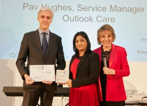 image of Pav Hughes, winner of compassion award at the 3rd sector care awards