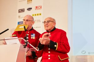 Image of The Chelsea Pensioners at the 3rd Sector Care Awards who were on the judging panel