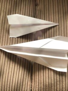 image of paper aeroplanes for craft activity